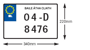 Image of acceptable pre 2013 number plate format